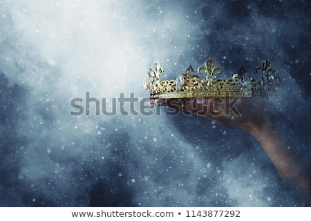 oro · corona · negro · diseno · fondo · arte - foto stock © fresh_5265954