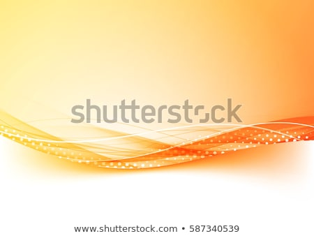 particles wave background with orange lights Stock photo © SArts