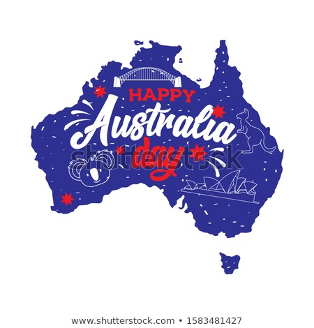 Stock photo: Australia day poster with kangaroo
