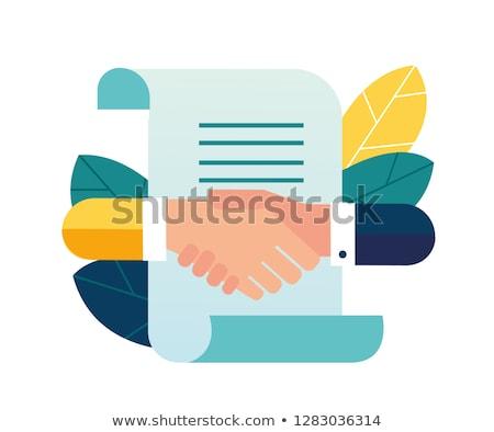 business agreement handshake concept Stock photo © alexmillos