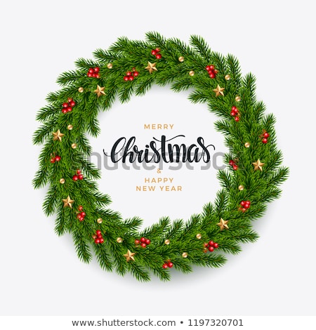 Gedetailleerd christmas krans vector tak Stockfoto © fresh_5265954