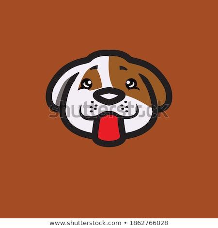 Stockfoto: Hond · hoofd · grafisch · ontwerp · geïsoleerd · witte · gezicht