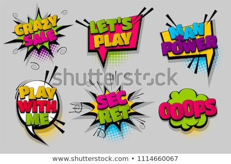 Ingesteld komische stijl kleurrijk pop art wow Stockfoto © masay256