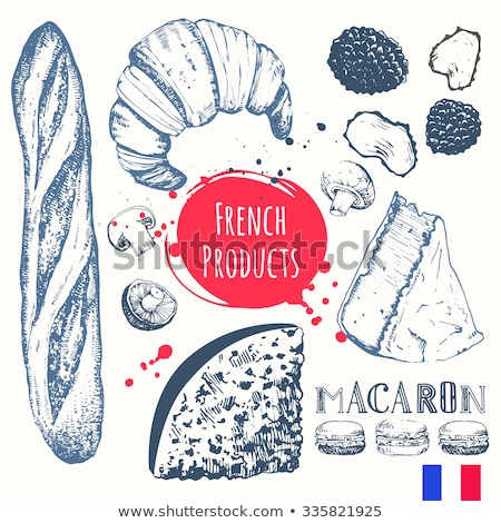 Stockfoto: Koken · frans · croissant · voedsel · ei · achtergrond