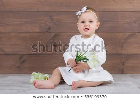 バレリーナ 白いドレス 座って スタジオ 白 椅子 ストックフォト © master1305
