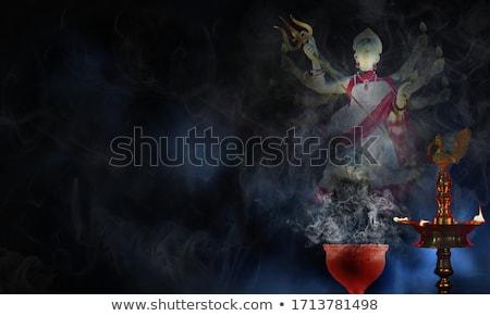 ilustração · cara · feliz · asiático · indiano - foto stock © vectomart