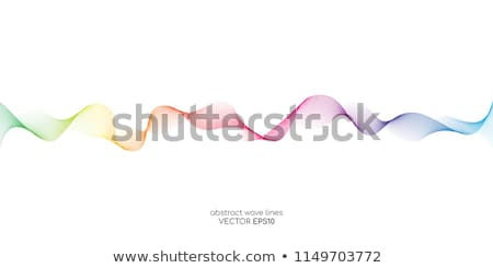 Colorful gradient wave of rainbow color on a white background Stock photo © m_pavlov