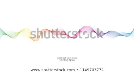 streszczenie · tęczy · kolor · linie · fale · komunikacji - zdjęcia stock © m_pavlov