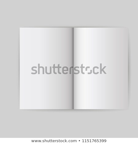 blank cover book vector realistic illustration isolated empty white clean white mock up template f stock photo © pikepicture