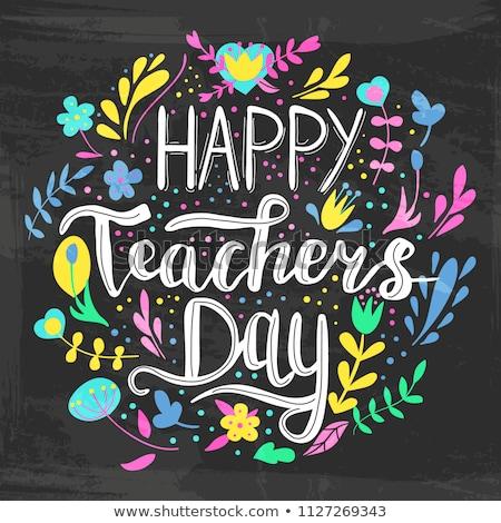 nauczycieli · dzień · ilustracja · dzieci · kobieta - zdjęcia stock © orensila