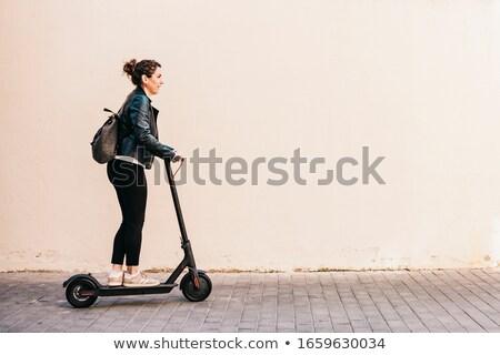 старший · женщину · верховая · езда · низкий - Сток-фото © is2