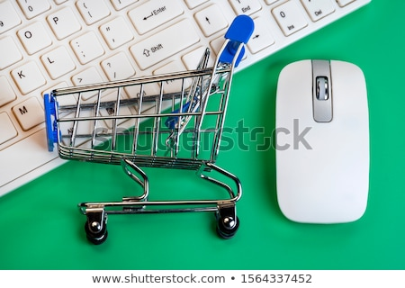 Cyber Monday Sale Online Trolley Computer Mouse Stock photo © Krisdog