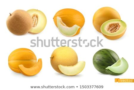 Kavun beyaz yalıtılmış meyve restoran yeme Stok fotoğraf © ConceptCafe