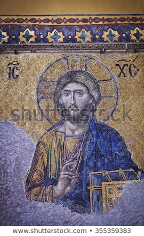 Byzantine mosaic from the Hagia Sophia Cathedral in Istanbul, Tu Stock photo © 5xinc