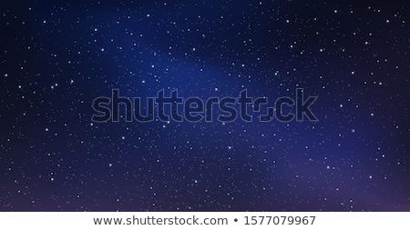 Dark night starry sky background Stock photo © orensila