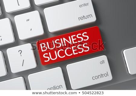 üzlet siker közelkép billentyűzet 3D karcsú Stock fotó © tashatuvango
