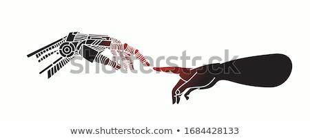 手 触れる 協力 ボタン 現代 キーボード ストックフォト © tashatuvango