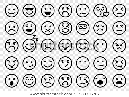main · expressions · icônes · simple · design - photo stock © dimashiper