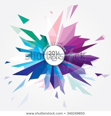 抽象的な 三角形 明るい 色 ウェブ ストックフォト © igor_shmel