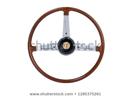 Vintage steering wheel Stock photo © Genestro