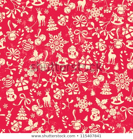 christmas icon pattern winter holiday tile background stock photo © terriana