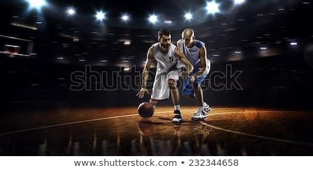 Basketballplatz · net · Himmel · Hintergrund · Fitnessstudio · blau - stock foto © wavebreak_media