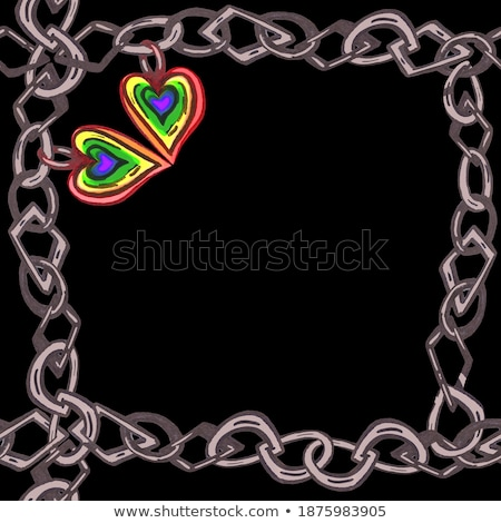 Two Rainbow Pride Heart Shape Symbol Lgbt Community Vector