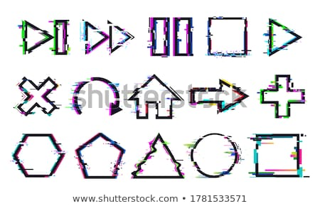 Glitch distortion frame. Vector arrow illustration Stock photo © m_pavlov