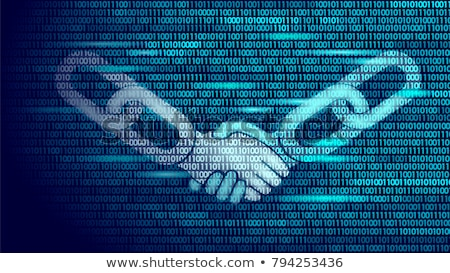 Blockchain Vector. Blockchain Hyperlink Symbol. Link Web Chain Internet. Financial Background Illust Stock photo © pikepicture