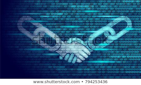 blockchain vector blockchain hyperlink symbol link web chain internet financial background illust stock photo © pikepicture