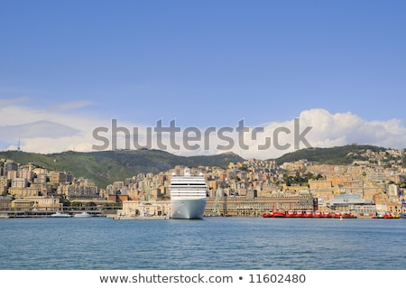 port of Genova with promenade Stock photo © Antonio-S