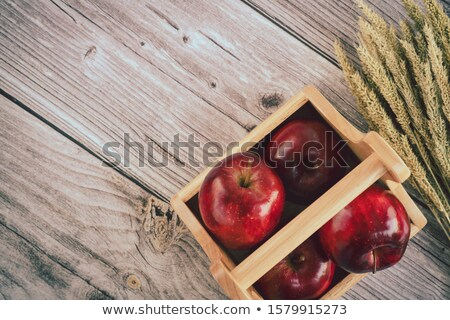 Wheat grain in a wooden basket stock photo © stefanoventuri