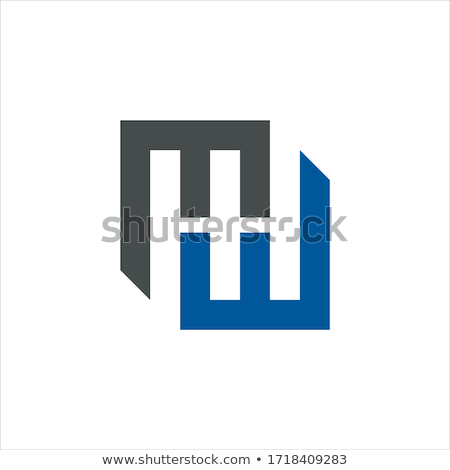 Abstract geometric letter MW WM logo template with hexagonal element object. infinite cube box shape Stock photo © taufik_al_amin