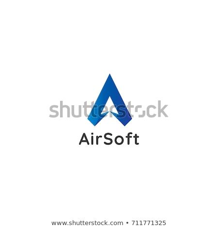 letter a logo air star flow flight arrow icon design concept creative apps vector illustration stock photo © taufik_al_amin