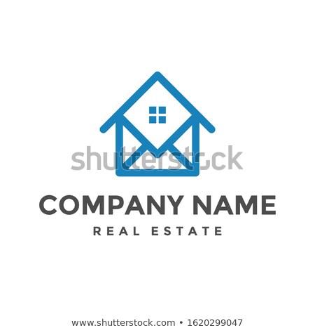 Abstrato casa logotipo ícone projeto casa Foto stock © taufik_al_amin