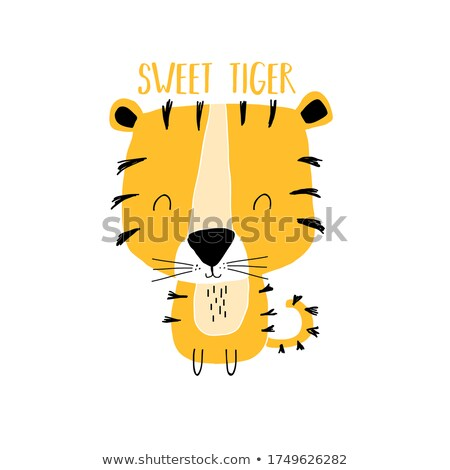 A Safari Boy and Tiger Stock photo © bluering