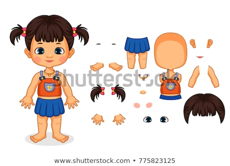 a vector of a girl and body part stock photo © bluering