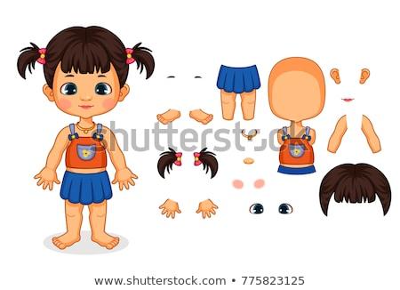 Vektor lány testrész illusztráció szexi szemek Stock fotó © bluering