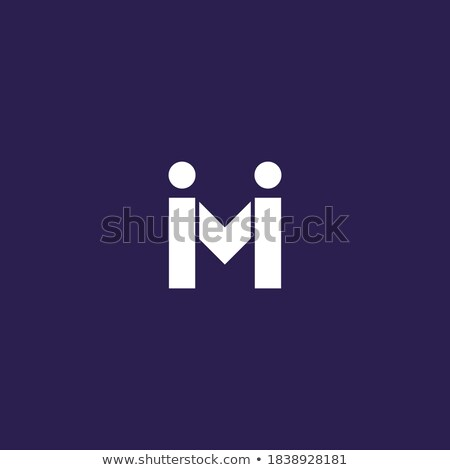 Stock photo: Two Vector Icons with letters. Male and Female Gender Signs. Men and Women. Blue and pink colors. ve