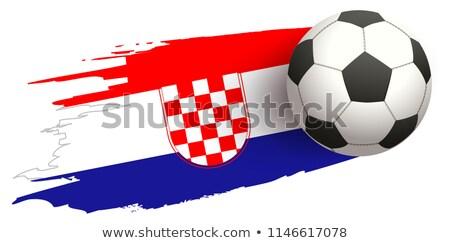 サッカーボール フライ フラグ 孤立した 白 サッカー ストックフォト © orensila