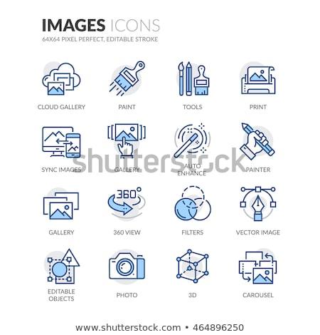 simple · photographie · vecteur · symbole · graphique - photo stock © smith1979