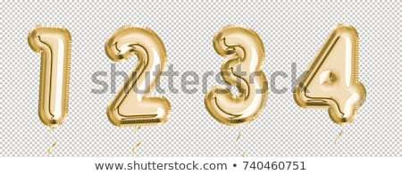 gold helium balloon set for party decoration stock photo © cienpies