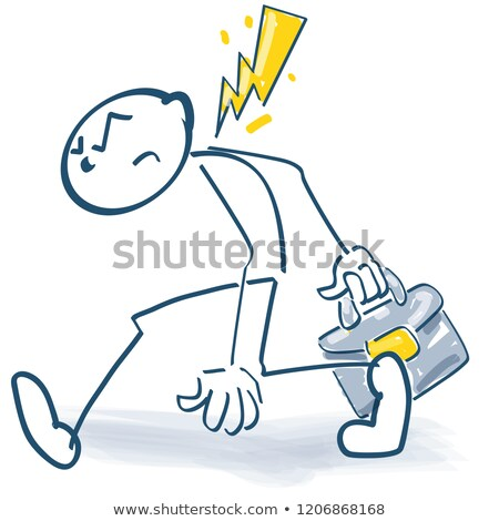 stick figure goes away with anger stock photo © ustofre9