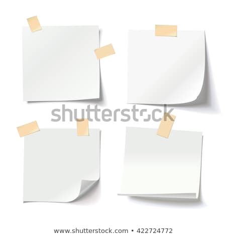 Wall Board with space for attaching announcements and notes isolated on white background. Vector car Stock photo © Lady-Luck