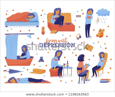 Triste adolescent médecin vecteur isolé illustration Photo stock © pikepicture