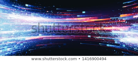 Illustratie dynamisch effect abstract zoals technologie Stockfoto © ssuaphoto