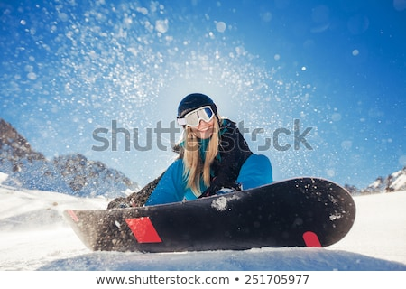 Bela mulher snowboard retrato belo loiro mulher Foto stock © Anna_Om