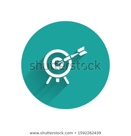 赤 · アーチェリー · ターゲット · 実例 · 白 - ストックフォト © colematt