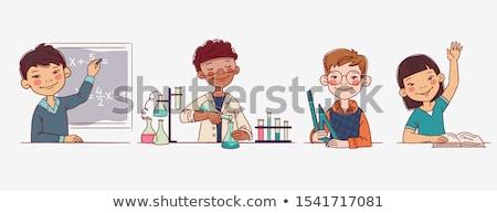 Matemática cálculo tarefa crianças desenho animado Foto stock © izakowski