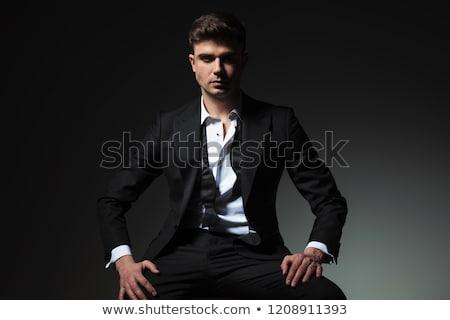 człowiek · garnitur · młodych · wesoły - zdjęcia stock © feedough
